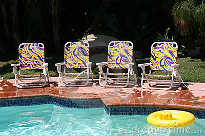 Four Pool Chairs