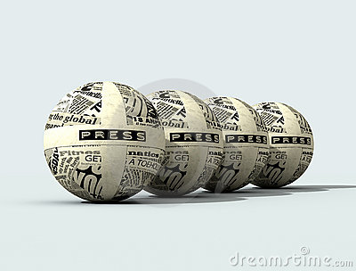 Four Press Globe Royalty Free Stock Image - Image: 4853696