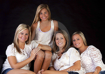 Four pretty sisters