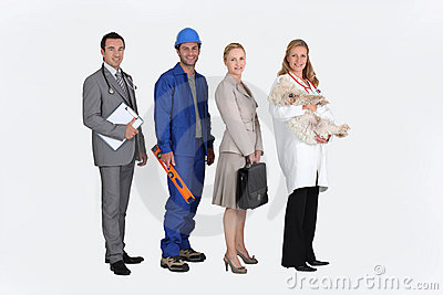 Four professionals