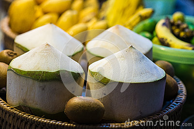 Four purified coconut