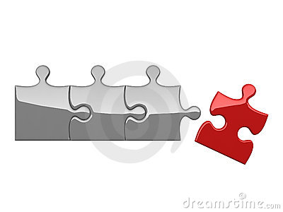 Four puzzles on white background