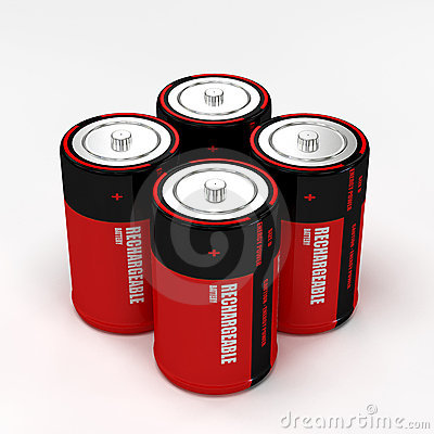 Four rechargeable battery