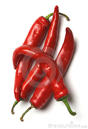 Free Four Red Hot Chilli Peppers Stock Photo - 1383820