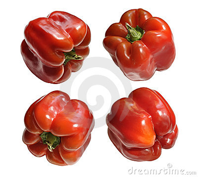 Free Four Red Peppers Stock Photos - 19129543