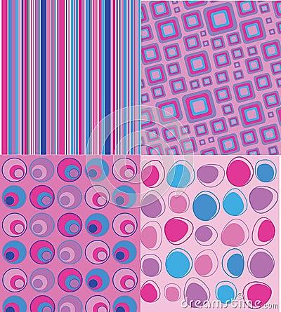Retro Backgrounds on Stock Image  Four Retro Backgrounds  Image  26413751