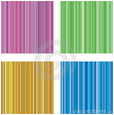Free Four Retro Vector Backgrounds With Stripes Stock Photography - 11371812
