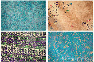 Four Satin Fabric Textures