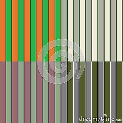 Four Seamless Irish Stripe Patterns