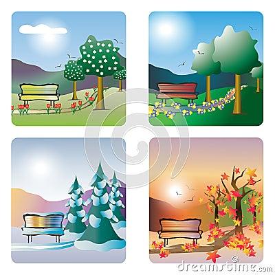 Free Four Seasons Royalty Free Stock Photo - 18943425