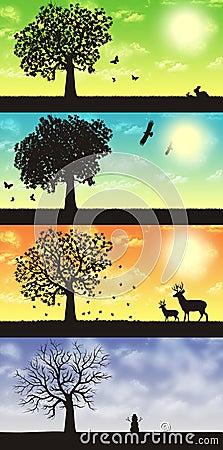Free Four Seasons Royalty Free Stock Photography - 20445577