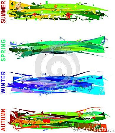 Free Four Seasons Banners Stock Photos - 3351283