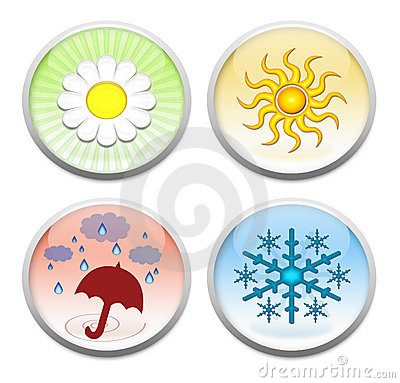 The four seasons buttons