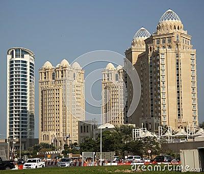 Four Seasons hotel in Doha, Qatar Editorial Stock Photo