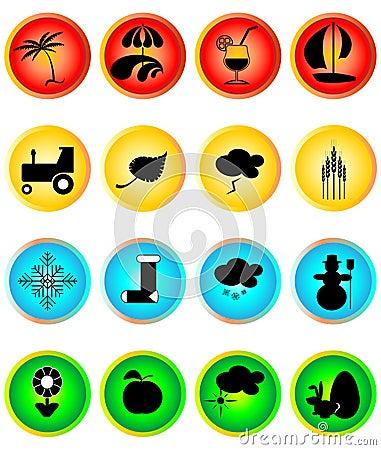 Four Seasons Icon Set