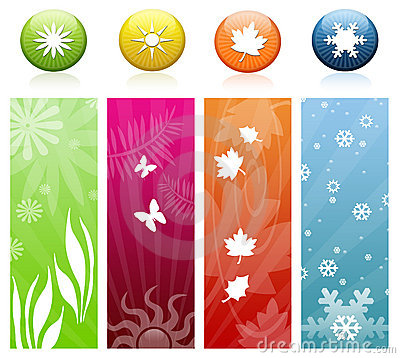 The four seasons icons & banners