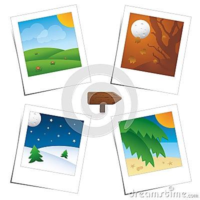 Four Seasons polaroid s scenes
