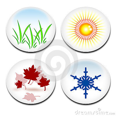 Four seasons stickers