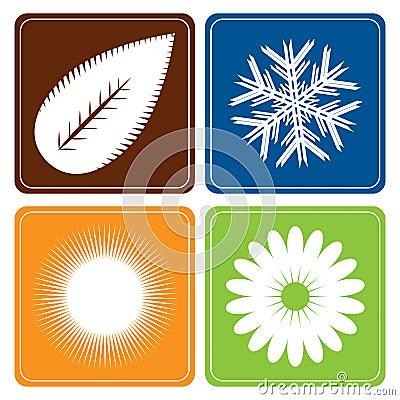 Four seasons - vector