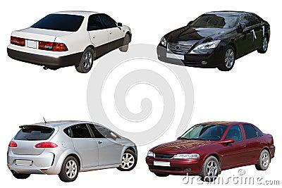 Four sedans