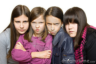 Four Serious Girl Royalty Free Stock Photos - Image: 12686588