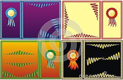 Four set of color serpentine border