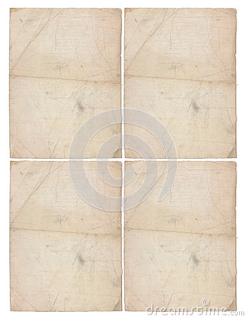 Four sheets of aged paper