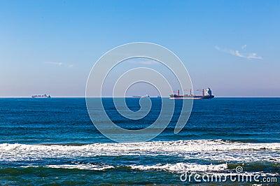 Four Ships Ocean Anchored