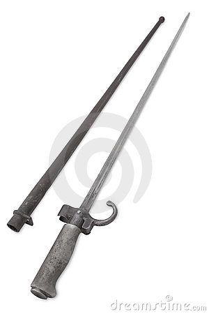 Four-sided French infantry bayonet