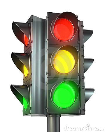 Four sided traffic light