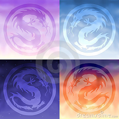 Four sky dragons