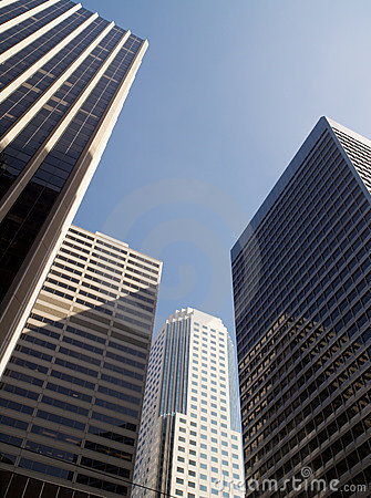 Four Skyscrapers Royalty Free Stock Photos - Image: 5196588