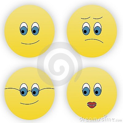 Four smileys
