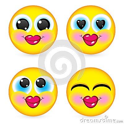 Four smiling faces