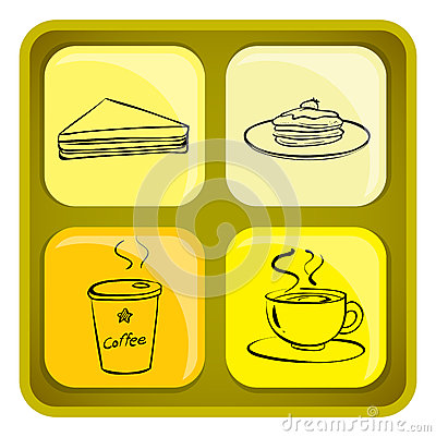 Four snack icons