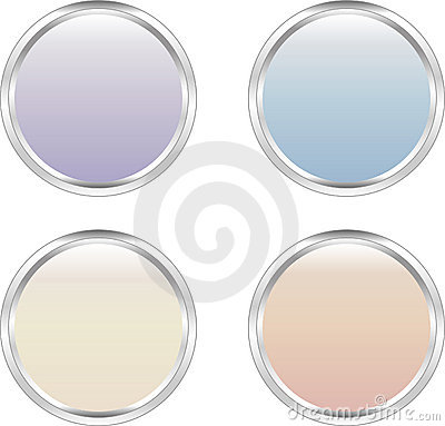 Four soft-colored web buttons