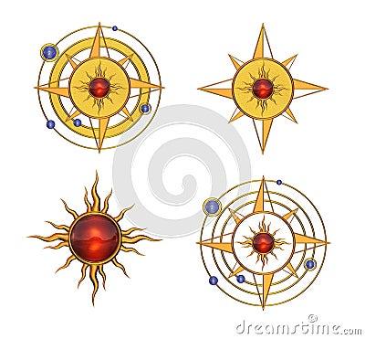 Four Solar Astral Symbols