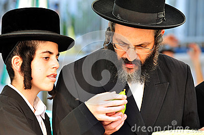 Four Species Market for Jewish Holiday of Sukkot Editorial Image