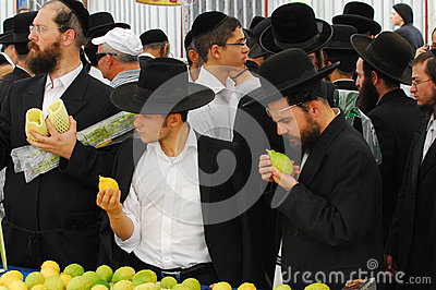 Four Species Market for Jewish Holiday of Sukkot Editorial Photography