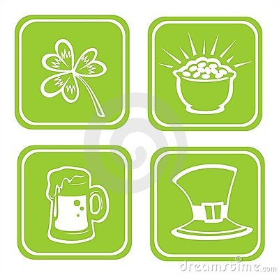 Four st.Patrick s Day symbols