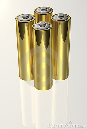 Free Four Standing Batteries Stock Photos - 10113083