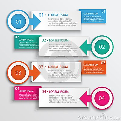 Free Four Step Infographic Design Modern Vector Illustration Stock Photography - 44389992