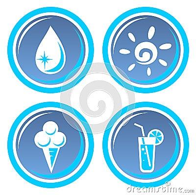 Four summer symbols
