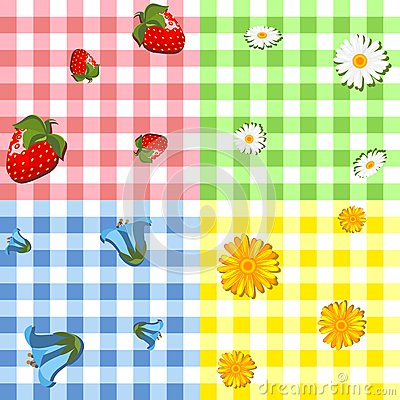 Four tablecloth pattern