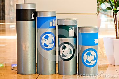 Four tanks for waste sorting and subsequent processing
