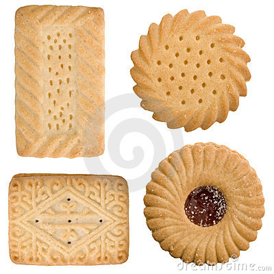 Free Four Tea Time Biscuits Stock Images - 3943444