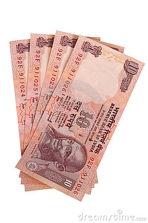 Four ten rupee notes