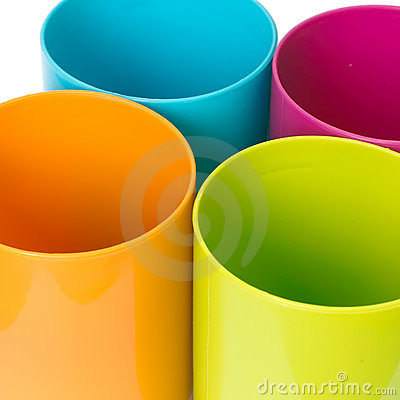 Four top plastic round tube