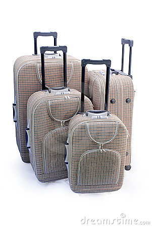 Four - travel suitcases