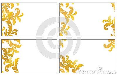 Four variants of visit cards